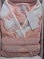 Женский халат бамбуковый Maison D`or Paris Dina Monique бабочки персиковый