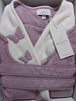 Женский халат бамбуковый Maison D`or Paris Dina Monique бабочки фиолетовый