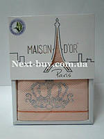 Бамбуковое полотенце Maison D'or Paris Bambu 50х100см в коробке персиковый