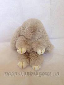 Меховый брелок - кролик Рекс (дымчатый)