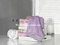 Бамбуковое полотенце с гипюром Maison D'or Paris Reyna 50х100см