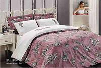 Постельное белье Maison D`or Klasik Rose 200x220см сатин с вышивкой