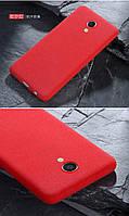 Чехол Бампер MAKAVO для Meizu M5 Матовый ультратонкий красный