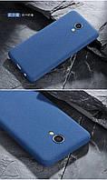 Чехол Бампер MAKAVO для Meizu M5 Матовый ультратонкий синий