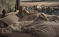 Постельное белье Maison D`or Jean Pierre 200x220см сатин со стразами с вышивкой