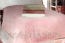 Покрывало махровое с кружевом Maison D`or Paris Angelik Розовый 220x240см