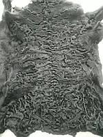 Натуральный мех каракуль-каракульча черного цвета