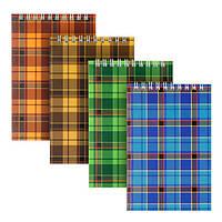 Блокнот на спирали Delta D8011-01, А6 картонная обложка, 48 листов, клетка, ассорти цветов