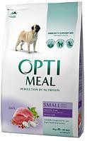 Корм для собак мелких пород с уткой Optimeal Small Adult Dog