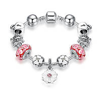 Браслет женский 6354 Пандора (все размеры) Pandora с шармами