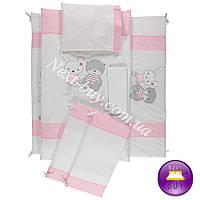Bebetto NEW LİFE постельное белье в колыбель с защитой розовый