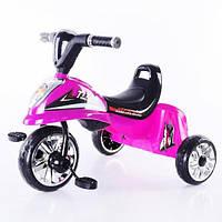 """Детский трехколесный велосипед музыкальный """"Скутер"""" розовый"""