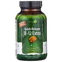 Irwin Naturals, B-12 экстра, быстродействующий витамин B12, 60 мягких желатиновых капсул с жидкостью