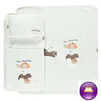 Комплект стеганый конверт одеяло подушка Bebetto RUZGAR GULU