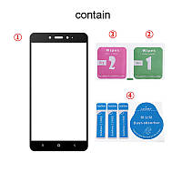 Защитное стекло для Xiaomi Mi5s Plus полноэкранное черное