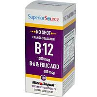 Superior Source, MicroLingual, цианокобаламин B-12 1000 мкг, 100 таблеток