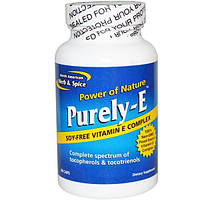 North American Herb & Spice Co., Purely-E, чистый витамин Е, 60 капсул