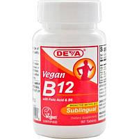 Deva, Vegan B12, сублингвально, 90 таблеток