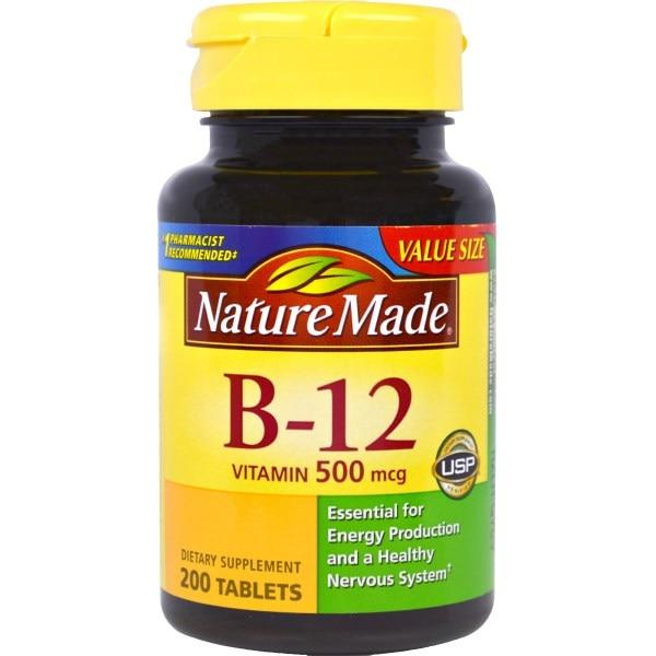 Nature Made, Vitamin B-12, 500 mcg, 200 Tablets