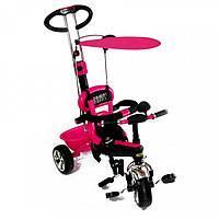 Трехколесный велосипед с ручкой Сombi Тrike 0013 розовый