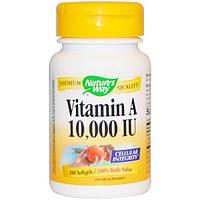 Natures Way, Витамин A, 10000 МЕ, 100 желатиновых капсул