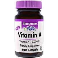 Bluebonnet Nutrition, Витамин A, 100 капсул