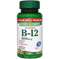Natures Bounty, Витамин B-12, 1000 мкг, 200 таблеток