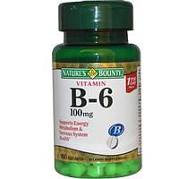 Natures Bounty, Витамин B-6, 100 мг, 100 таблеток