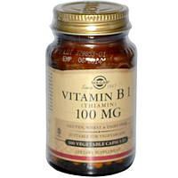 Solgar, Витамин B1, 100 мг, 100 растительных капсул