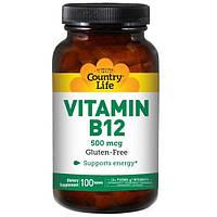 Country Life, Витамин B12, 500 мкг, 100 таблеток