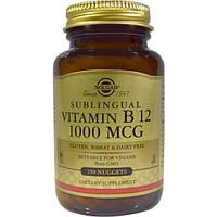 Solgar, Витамин B12, сублингвальный, 1000 мкг, 250 крупинок