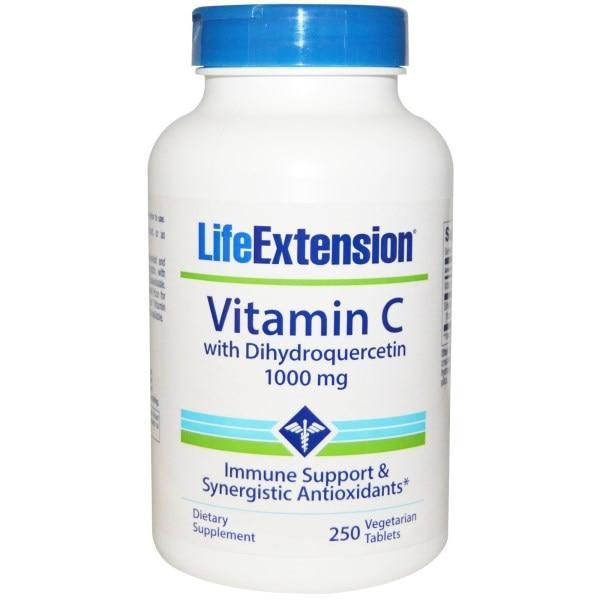 Life Extension, Витамин C, с Дигидрокверцетином 1000 мг 250 раститеельных таблеток