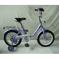 """Детский велосипед двухколесный Flower сиреневый 14"""" L1483"""