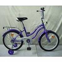 """Детский велосипед двухколесный Star фиолетовый 18"""" L1893"""
