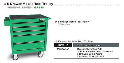 Тележка для инструмента 5 секций TOPTUL TCAA0501, фото 2