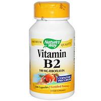 Natures Way, Витамин В2, 100 мг, 100 капсул