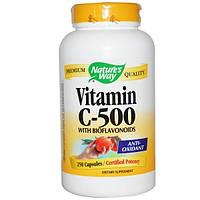 Natures Way, Витамин С-500 с биофлавоноидами, 250 капсул