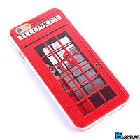 Чехол пластиковый телефонная будка London на Iphone 6/6s