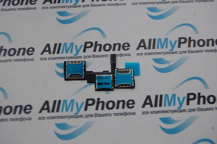Держатель sim-карты для Samsung N9009 Galaxy Note 3 Dual Sim c коннектором карты памяти