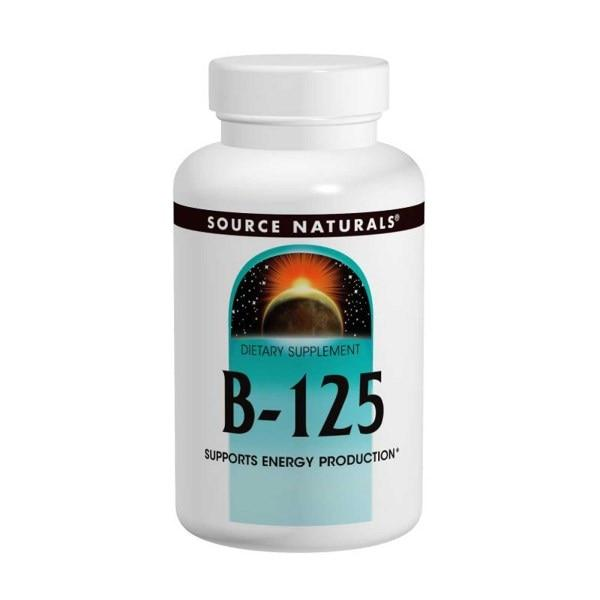 Source Naturals, Витамины B-125, 125 мг, 90 таблеток