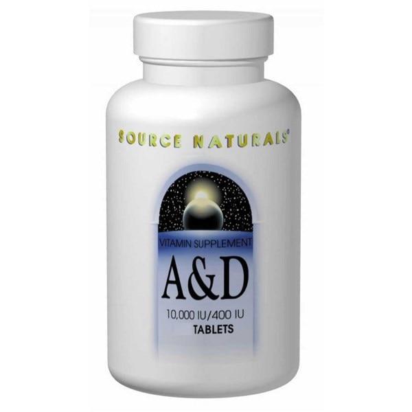 Source Naturals, Витамины А и D, 10,000 IU/400 IU 250 таблеток