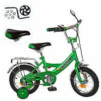 """Велосипед двухколесный Profi 12"""" P 1242A зеленый"""