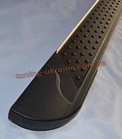 Боковые площадки из алюминия Allmond Black для Opel Vivaro 2001-2014 Long