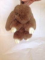 Меховый брелок - кролик Рекс (кофейный)