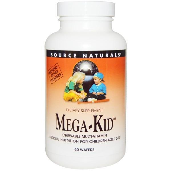 Source Naturals, Жевательные витамины для детей с натуральными ягодными ароматами, 60 пастилок