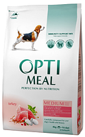 Корм для собак средних пород с индейкой Optimeal Medium Adult Dog