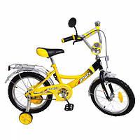 """Велосипед двухколесный Racer Profi16"""" P 1647 желто-черный"""