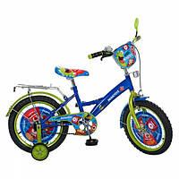"""Детский велосипед Profi Clasik 16 """" PM1634 голубой с зеленым"""