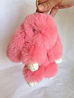 Меховый брелок - кролик Рекс (нежно-розовый)