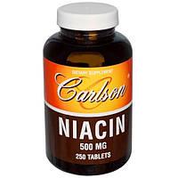 Carlson Labs, Ниацин, 500 мг, 250 таблеток